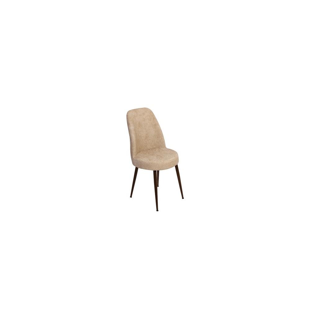 Sedia con struttura in metallo rivestimento in tessuto Bergere
