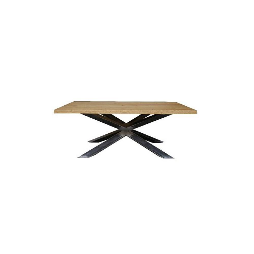 Tavolo con piano in legno e struttura acciaio. Taranta