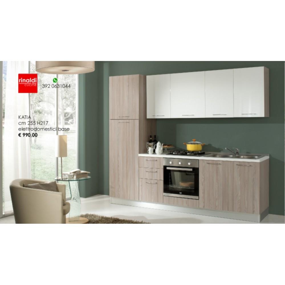Cucina lineare cm. 255 x 217h Katia
