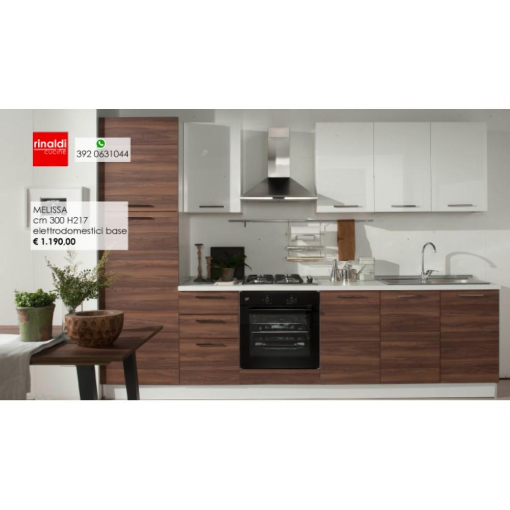 Cucina lineare cm. 300 x 217h Melissa