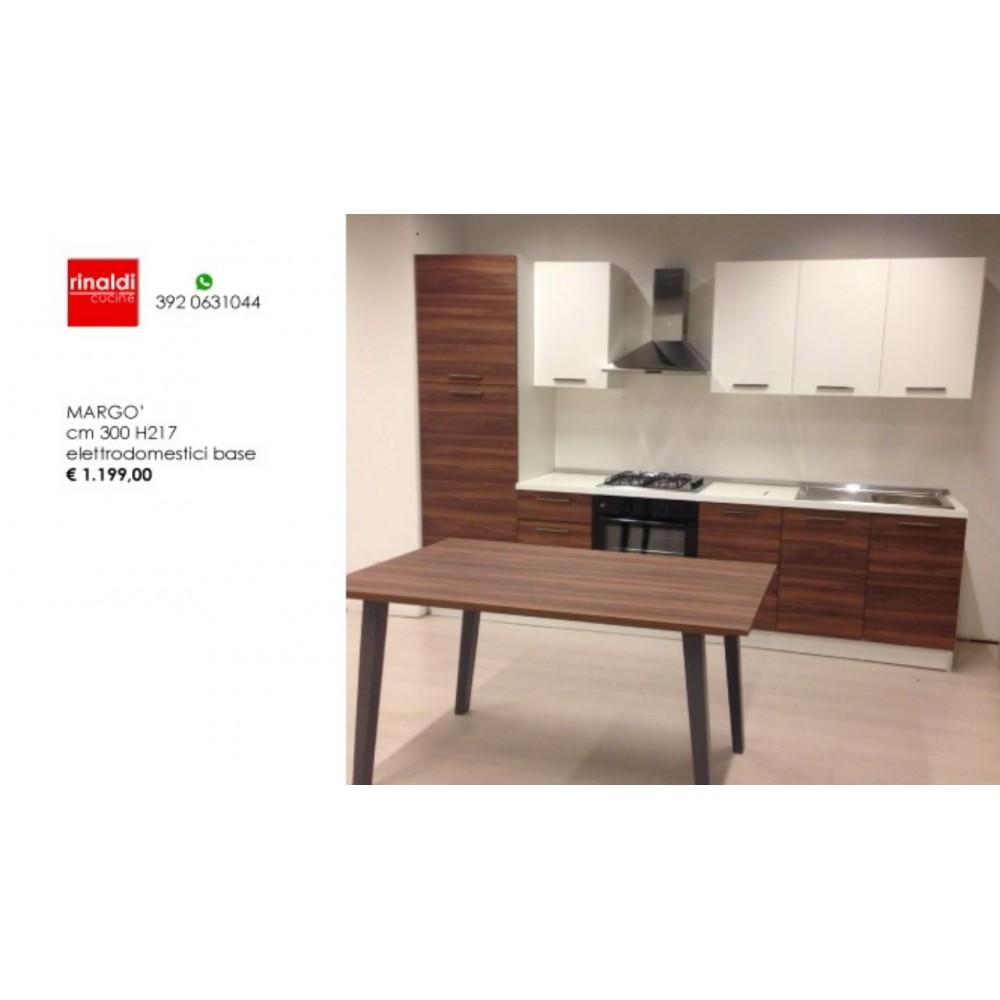 Cucina lineare cm. 300 x 217h Margò