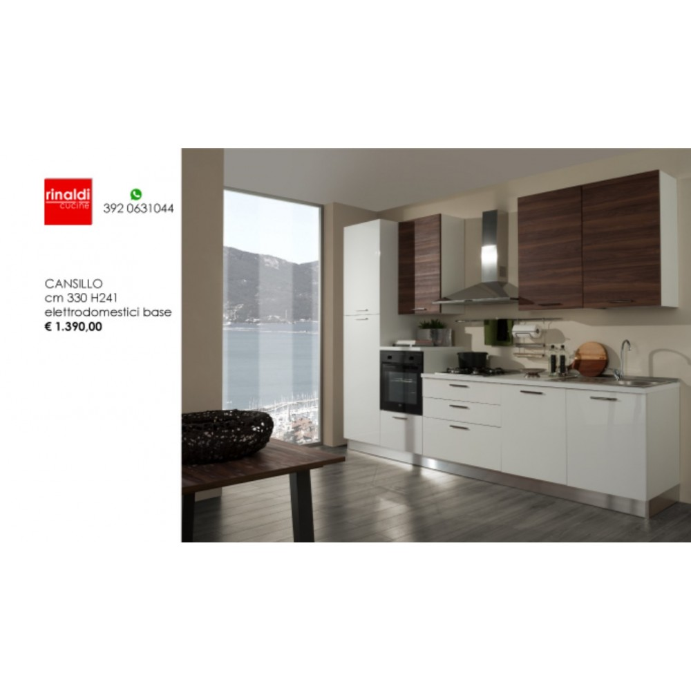 Cucina lineare cm. 330 x 241h Cansillo