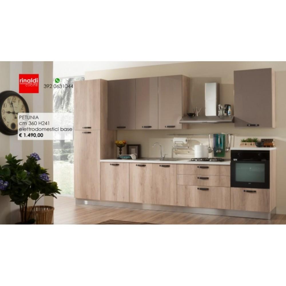 Cucina lineare cm. 360 x 241h Petunia