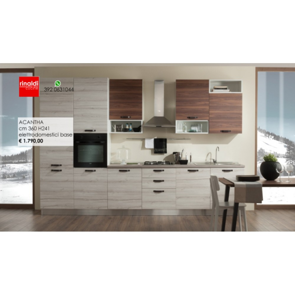 Cucina lineare cm.360 x 241h Acantha