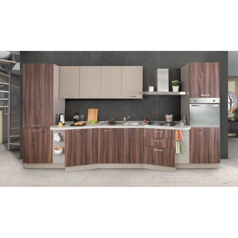 Cucina lineare con top papillon 390 x 216h swing06