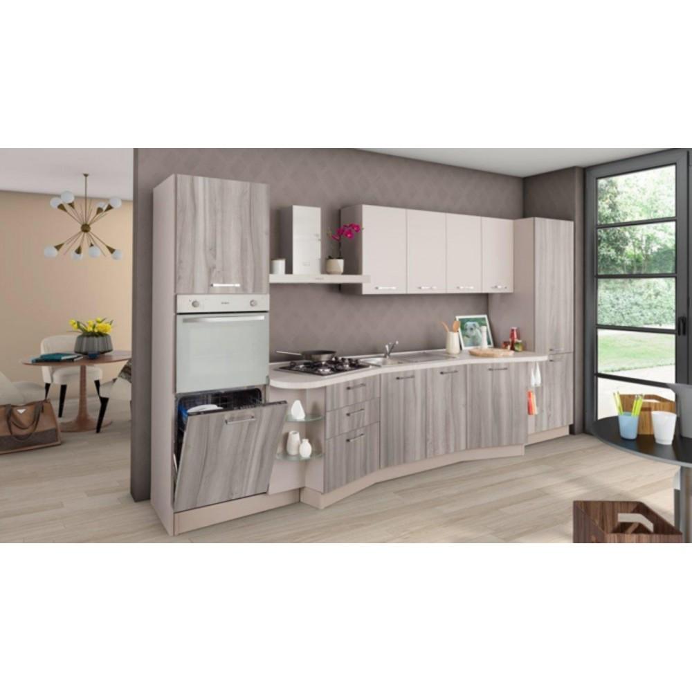 Cucina lineare con top papillon 392 x 216h swing08
