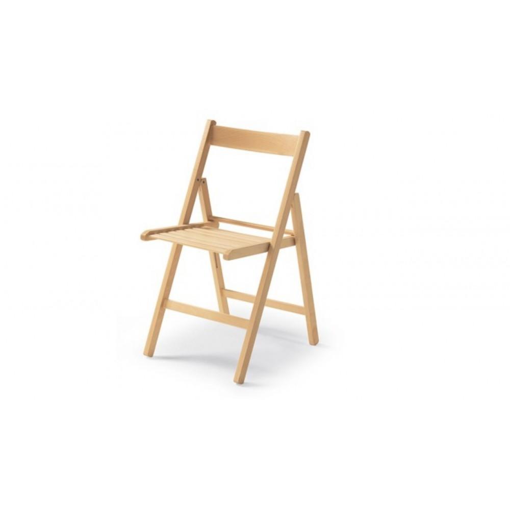 Sedia pieghevole in legno di faggio. Penelope