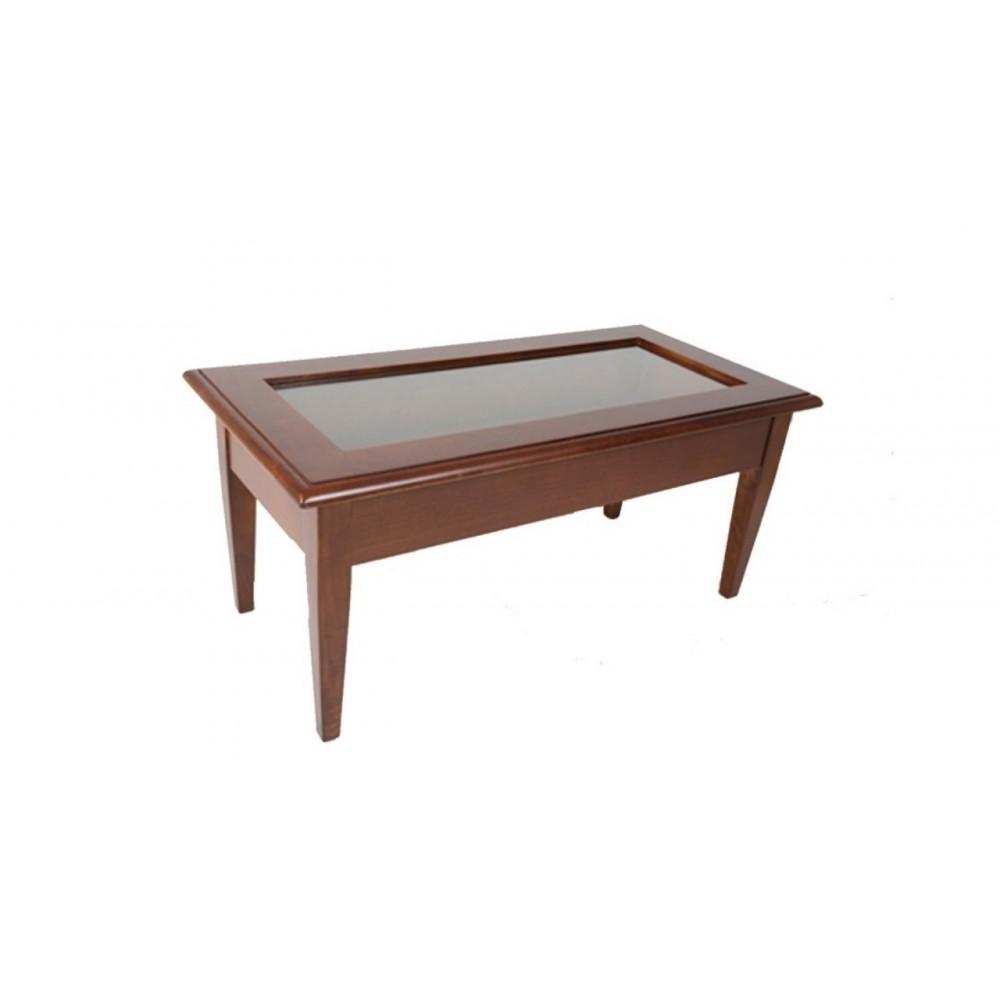 Tavolino in legno classico apribile arte povera cm 100x50 H45