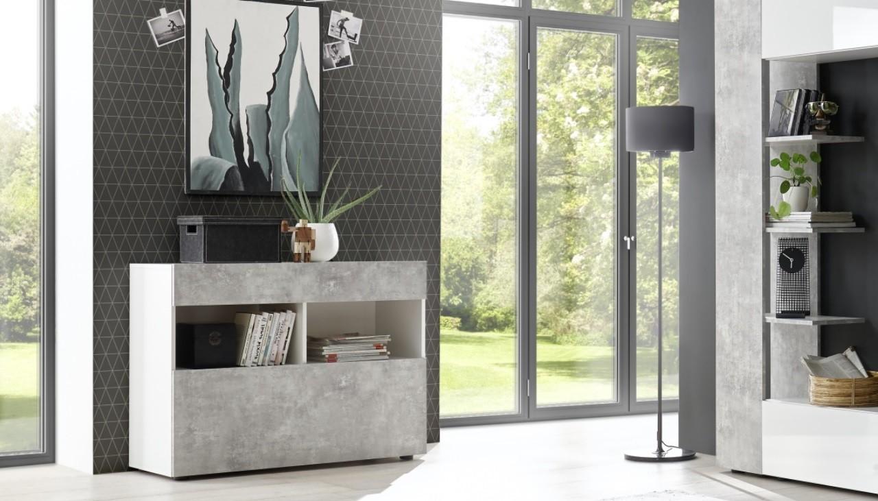 Credenza Con Rete : Mobile credenza madia beton astrakat
