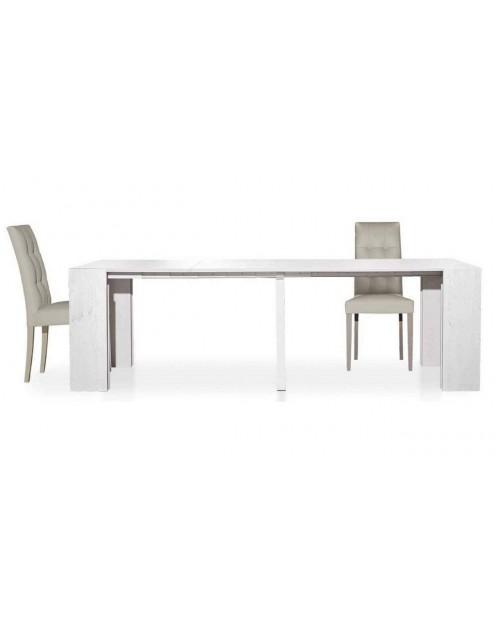 Consolle tavolo allungabile Audace bianco larice