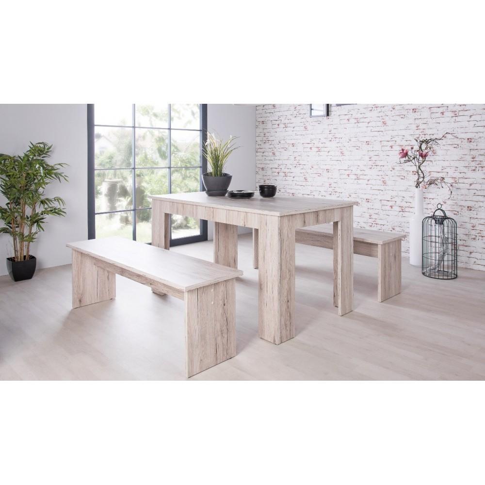 Tavolo con due panche in legno Munchen