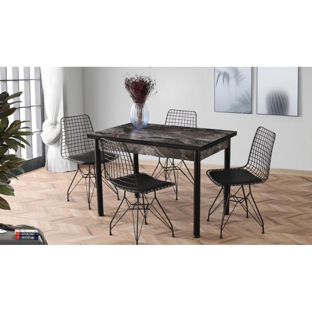 Tavolo allungabile marmo nero 110 x 70 cm. Karya