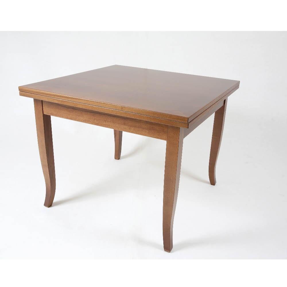 Tavolo quadrato allungabile noce 90x90 Verona
