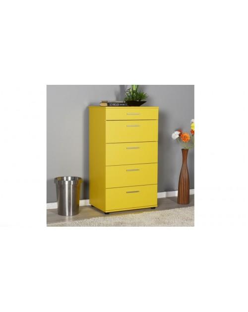 Cassettiera gialla 5 cassetti  Adore sfn550hh1