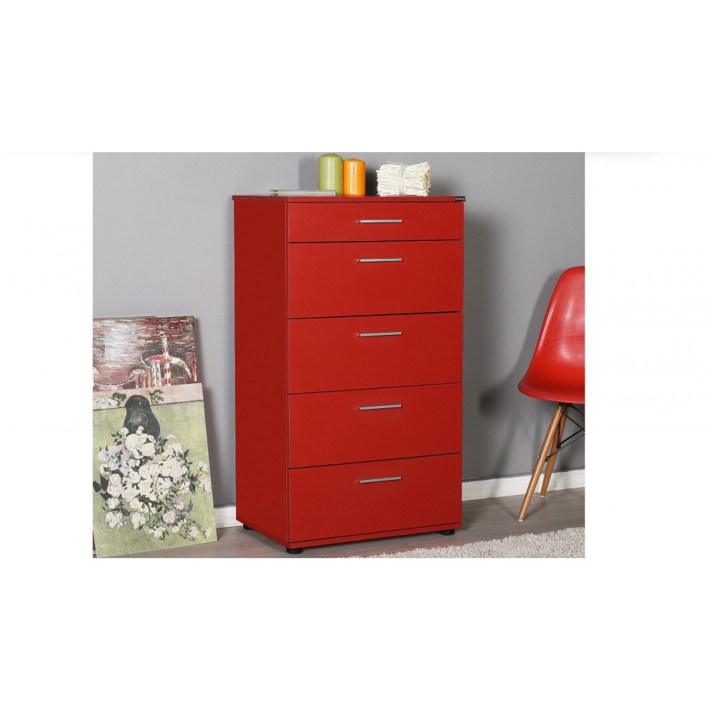 Cassettiera rossa 5 cassetti  Adore sfn550hh1