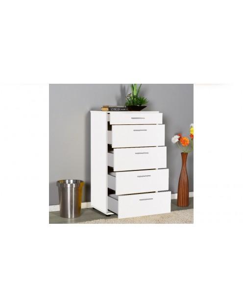 Cassettiera bianca 5 cassetti  Adore sfn550hh1