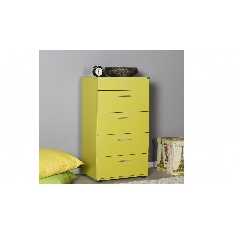 Cassettiera verde 5 cassetti Adore sfn550hh1