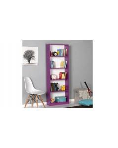 Libreria viola 5 scomparti 58 x170x23 cm