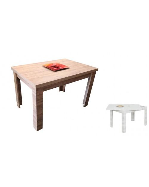 Tavolo raddoppiabile 120x80 cm. Maribor rovere aramo