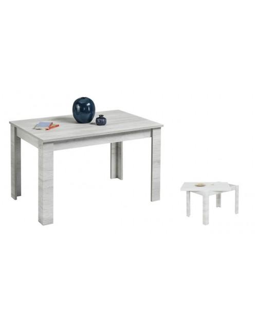 Tavolo raddoppiabile 120x80 cm. Maribor betulla bianco oliva