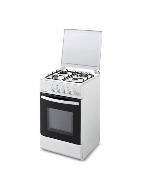Cucina libera installazione con forno a gas bianca 55G40FBI.