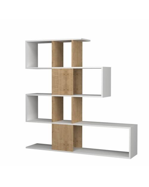Libreria bifacciale 145x145x29 cm. Aktif bianco rovere