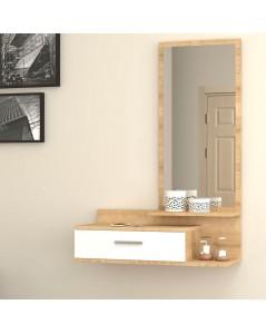 Mobile ingresso con specchio bianco rovere Joy