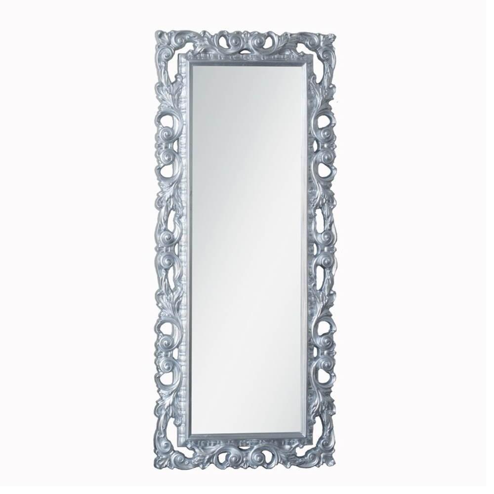 Specchiera 80x200 cm. foglia argento Anna