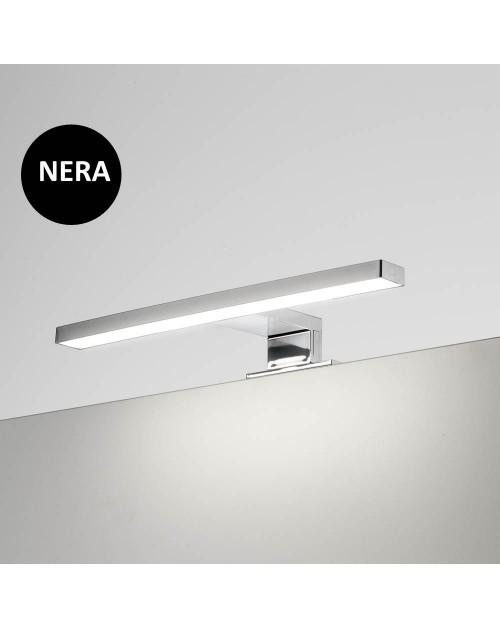 Lampada LED per bagno Kyra 300 mm nera