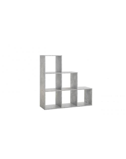 Libreria a scala 6 cubi Udine 1 cemento