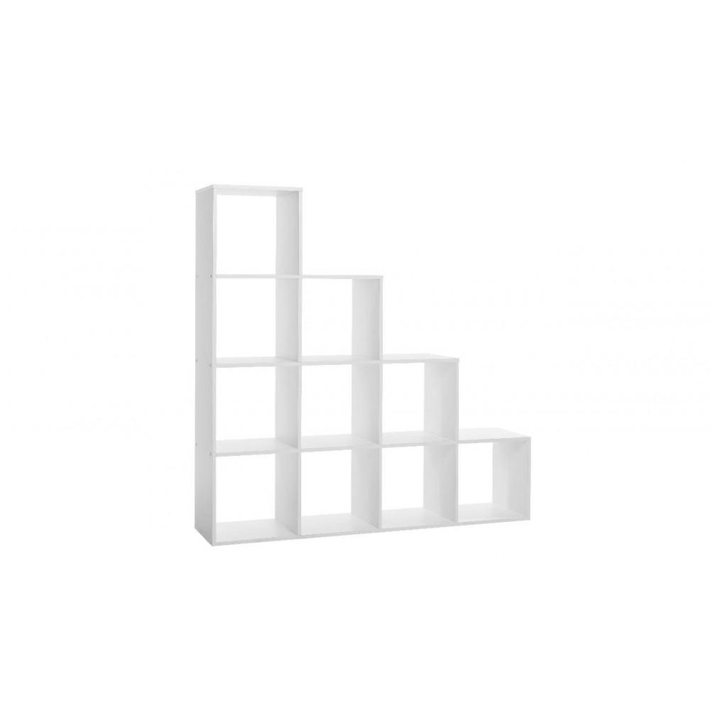 Libreria a scala 10 cubi Udine 2 bianco