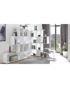 Libreria bianco opaco e lucido Taraz