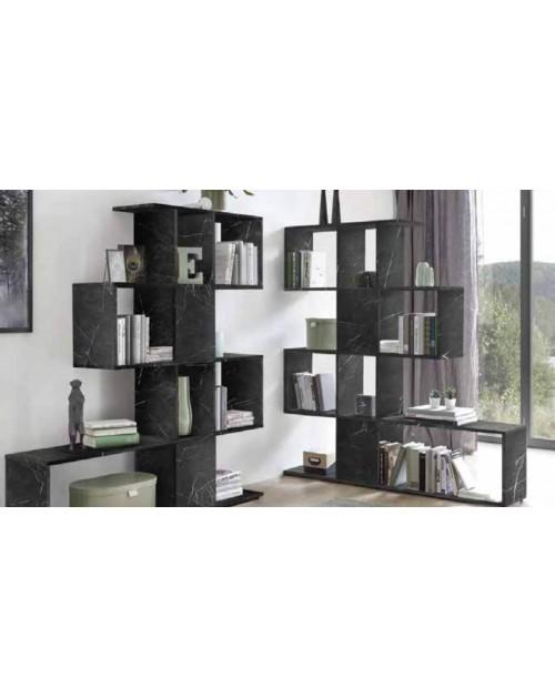 Libreria effetto marmo nero Taraz