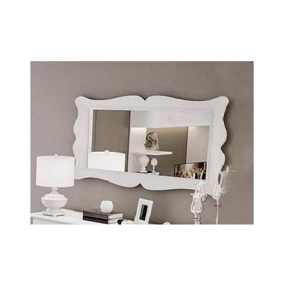 Specchiera con cornice bianca 160x7x85H cm. Giselle