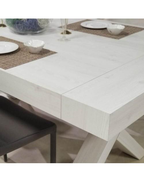 Affare Tavolo Allungabile Betulla Bianco Oliva 180x100 Gondar